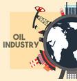 world pump jack refinery plant ship tanker oil vector image vector image