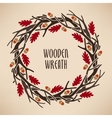 Wreath made of branches vector image