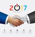 Business 2017 handshake success concept vector image