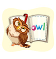 Cute owl and a book vector image