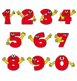 funny number cartoon collection vector image
