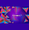 abstract modern 3d triangle colorful background vector image