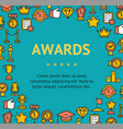 award signs round design template line icon vector image vector image