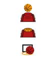 basketball2 vector image vector image