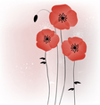 Beautiful poppies background vector | Price: 1 Credit (USD $1)