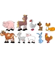 Big set of domestic animals vector image