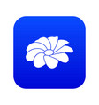 bright flower icon blue vector image vector image