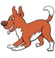 cartoon playful dog pet animal character vector image vector image