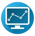 Chart Monitoring Gradient Round Icon vector image vector image