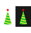 christmas tree icon in form of holiday cap vector image vector image
