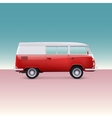 Classic camper van vector image