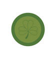 coin with clover isolated icon vector image