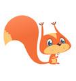 Cute cartoon squirrel in playful mood
