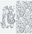cute little giraffe cartoon hand drawn vector image vector image