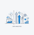 data analytics website banner thin line vector image vector image