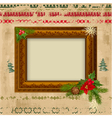 decorative christmas frame design vector image