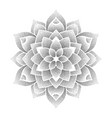 dotted flower symbol vector image