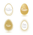 easter for greetings cards lettering on egg frame vector image