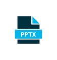 file pptx icon colored symbol premium quality vector image