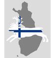 Finnish reindeer vector image vector image