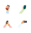 flat icon phone set of keep phone cellphone vector image