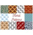 Floral decorative patterns set vector image vector image