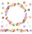 floral seamless flower brush floral design vector image vector image
