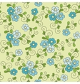Floral seamless pattern with forget-me-not vector image
