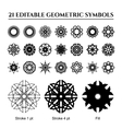 Geometric Ornaments Set vector image vector image