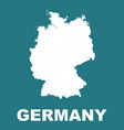 germany map flat vector image vector image