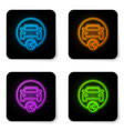 glowing neon car sharing icon isolated on white vector image vector image