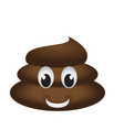 happy poop emoji vector image