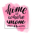 home is where mom is vector image vector image