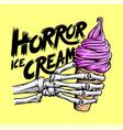 horror ice cream vector image