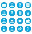 hotel icon blue vector image vector image