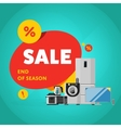 Household appliances discount sale banner vector image vector image