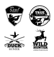 Hunting club labels and emblems set vector image vector image