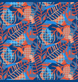 jungle pattern red and blue abstract textured vector image vector image