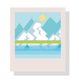 landscape snapshot isolated icon vector image vector image