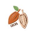 logo icon design cocoa farm vector image vector image