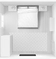 mockup bedroom interior top view vector image