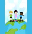 multi ethnic children vector image