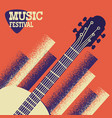 music concert background with acoustic guitar vector image