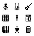 music player icons set simple style vector image vector image