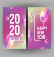 new year invitation card celebrating 2020 vector image