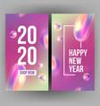new year invitation card celebrating 2020 vector image vector image