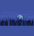 night city skyscrapers silhouettes houses vector image vector image