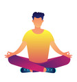 office worker sitting in lotus pose vector image vector image