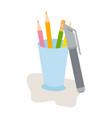 pen pencil and box suitable for school children vector image