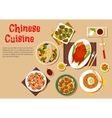 Popular dishes of chinese cuisine icon flat style vector image vector image